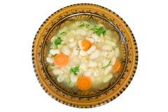 Suppe mit Bohnen Stockbilder