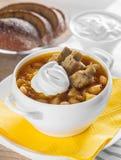 Suppe mit Bohnen Stockfotografie