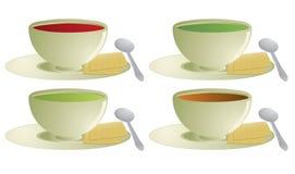 Suppe mit Crackern Lizenzfreie Stockfotos