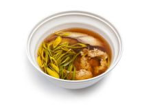 Suppe mit einem Aal Stockfotografie