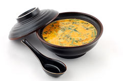 Suppe mit Fleisch Stockbilder