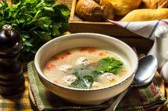 Suppe mit Fleischklöschen Stockfotos
