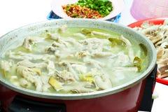 Suppe mit Huhn Lizenzfreies Stockbild