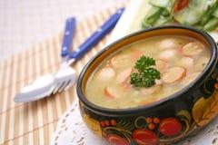 Suppe mit Kartoffeln Stockfoto