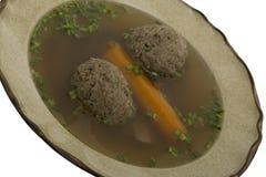 Suppe mit Lebermehlkloß lizenzfreies stockfoto