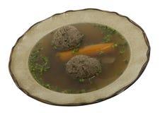 Suppe mit Lebermehlkloß lizenzfreie stockfotos