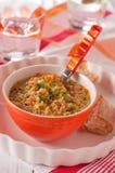 Suppe mit legums Stockfoto
