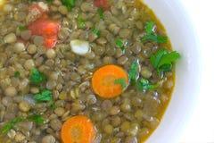 Suppe mit Linse Lizenzfreies Stockfoto