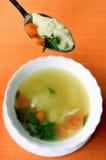 Suppe mit Nudeln Stockbilder