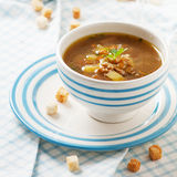 Suppe mit Pilzen lizenzfreies stockfoto