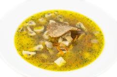 Suppe mit Pilzen und Bohnen lizenzfreies stockfoto