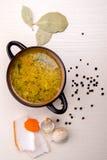 Suppe mit Speck und Knoblauch Lizenzfreie Stockfotografie