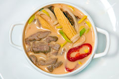 Suppe mit spices2 Stockfoto
