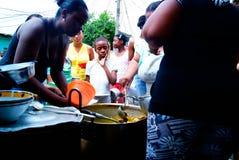Suppe schließt sich der Gemeinschaft an Stockfotografie