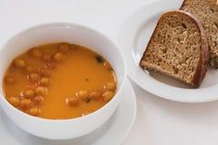 Suppe und Brot Lizenzfreie Stockfotografie