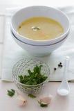 Suppe und Minze Stockfotos