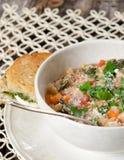 Suppe und Sandwich Lizenzfreies Stockfoto