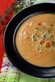 Suppe von gegrilltem Gemüse Lizenzfreies Stockfoto