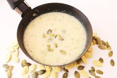 Suppe von Kürbisen stockbild