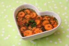 Suppe von Karotten Lizenzfreie Stockbilder