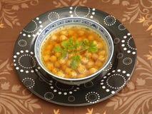 Suppe von Kichererbsen Stockfotografie