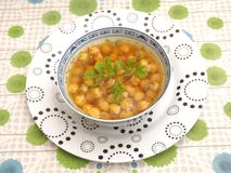 Suppe von Kichererbsen Stockfotos