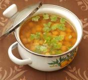 Suppe von Kichererbsen Stockbilder