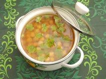 Suppe von Kichererbsen Lizenzfreie Stockfotos