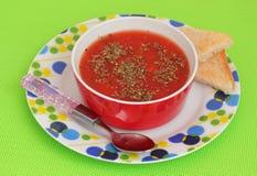 Suppe von Tomaten stockbilder