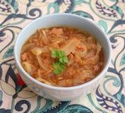 Suppe von Zwiebeln Lizenzfreies Stockbild