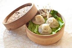 Suppen-Mehlkloß, Xiaolongbao Stockfotos