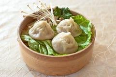 Suppen-Mehlkloß, Xiaolongbao Lizenzfreie Stockfotografie