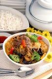 Suppennudeln und Reis Lizenzfreie Stockfotografie