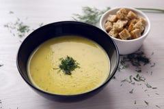 Suppenpüree der Zucchini Lizenzfreie Stockbilder