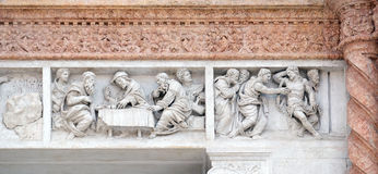 Supper at Emmaus left and Doubting Thomas right Stock Image