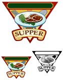Supper Illustration Stock Images