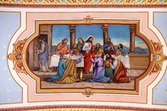 The supper of Jesus by Simon the Pharisee Stock Images