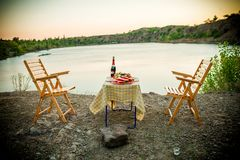 Supper place for lovers outdoor stock images