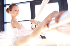 Supple pretty young ballerina Royalty Free Stock Photo