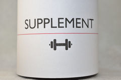 Supplement. Is intended to provide nutrients that may otherwise not be consumed in sufficient quantities Stock Image