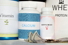Supplement. Is intended to provide nutrients that may otherwise not be consumed in sufficient quantities Stock Photography