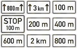 Supplemental Distances In Germany Royalty Free Stock Photo