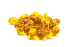 Supplementary food - Omega-3 capsules Royalty Free Stock Photos
