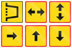 Supplementary Road Signs In Finland Stock Images