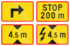 Supplementary Road Signs In Finland Royalty Free Stock Images