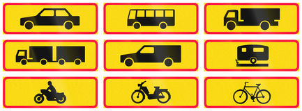 Supplementary Road Signs In Finland Royalty Free Stock Photo