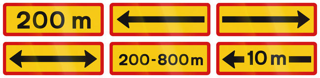 Supplementary Road Signs In Iceland Stock Photography