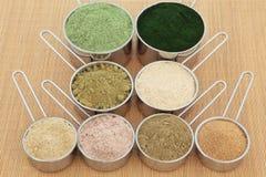 Supplementi della polvere della proteina Fotografia Stock Libera da Diritti