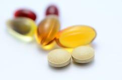 Supplementi dietetici Fotografia Stock Libera da Diritti