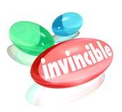 Supplementi invincibili di ultima forza delle vitamine Immagine Stock